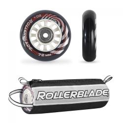 Zestaw kółka + łożyska + tulejki Rollerblade 72mm/80a