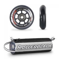 Zestaw kółka + łożyska + tulejki Rollerblade 76mm/80a