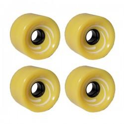 Kółka KRF do longboardów - żółte