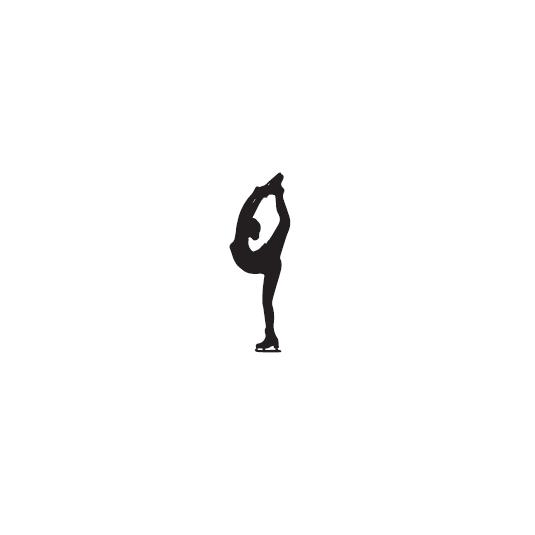 Naklejka - łyżwiarka - wzór 2