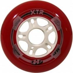 HYPER XTR 90mm/84A - czerwone - ZESTAW