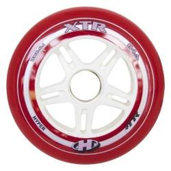 HYPER XTR 100mm/84A - czerwone - ZESTAW