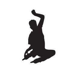 Naklejka - rolkarz freestyle - wzór 1