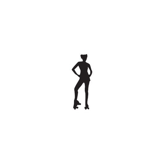 Naklejka - wrotkarka - wzór 1