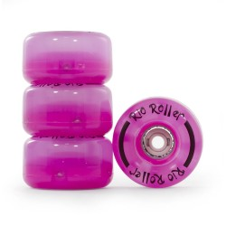 Kółka Rio Roller Light Up - różowe