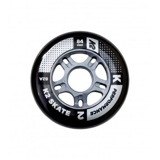 Zestaw kółka + łożyska + tulejki K2 Performance 84mm/82A (8szt.)