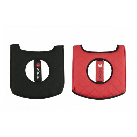 ZÜCA SEAT CUSHION, BLACK/RED